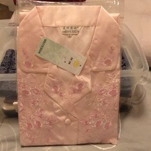 Other - Silk embroidered pajamas from China